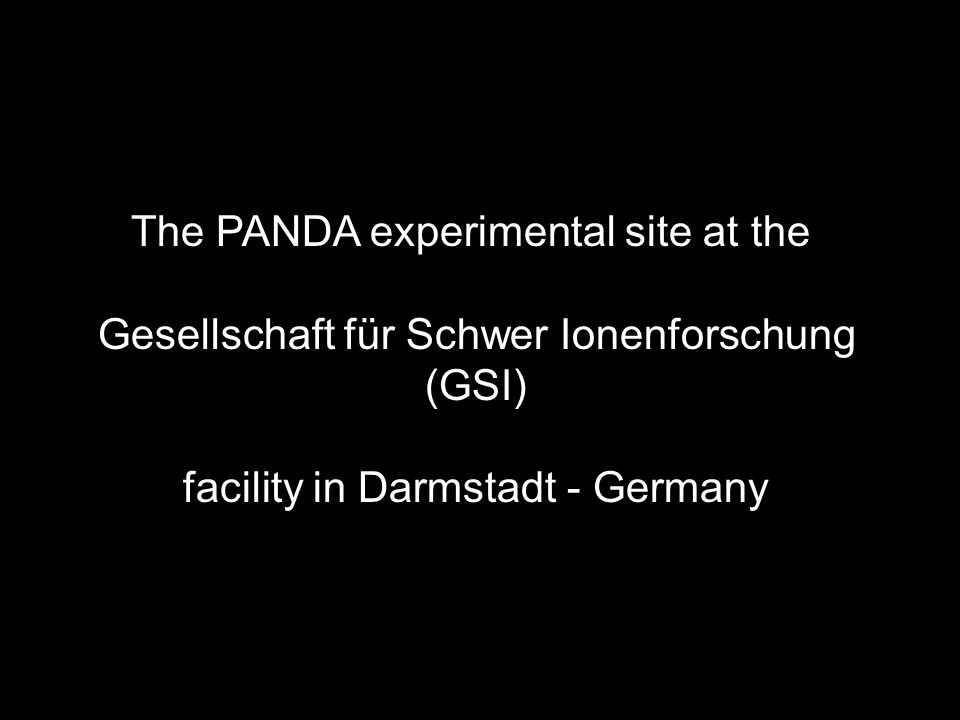 The PANDA experimental site at the Gesellschaft für Schwer Ionenforschung (GSI) facility in Darmstadt - Germany