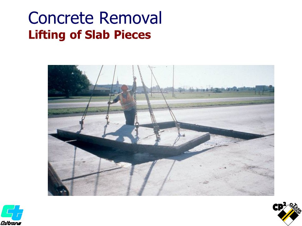 Concrete Removal Lifting of Slab Pieces