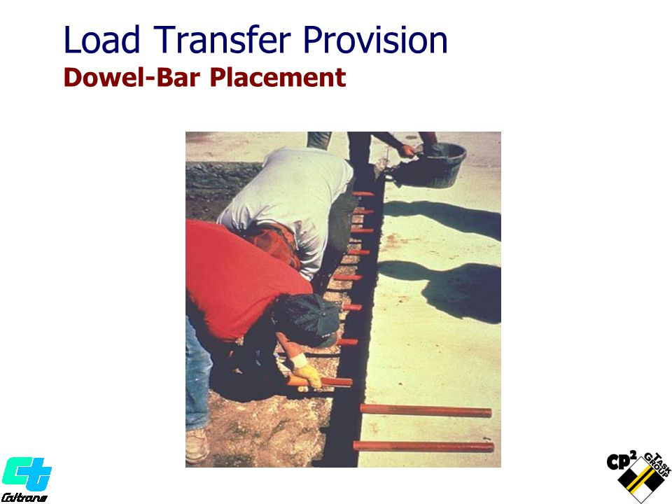 Load Transfer Provision Dowel-Bar Placement