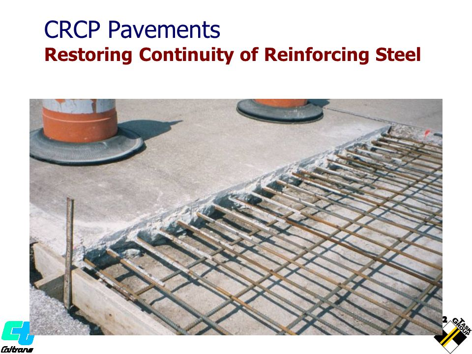 CRCP Pavements Restoring Continuity of Reinforcing Steel