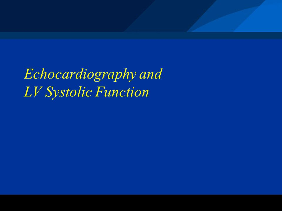 ©2004 St. Jude Medical CRMD Echocardiography and LV Systolic Function