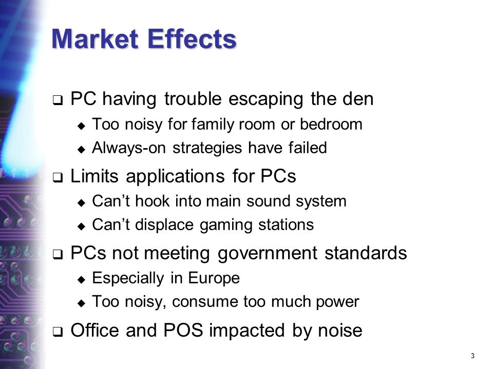 23 What effect has this trend had on the PC market?