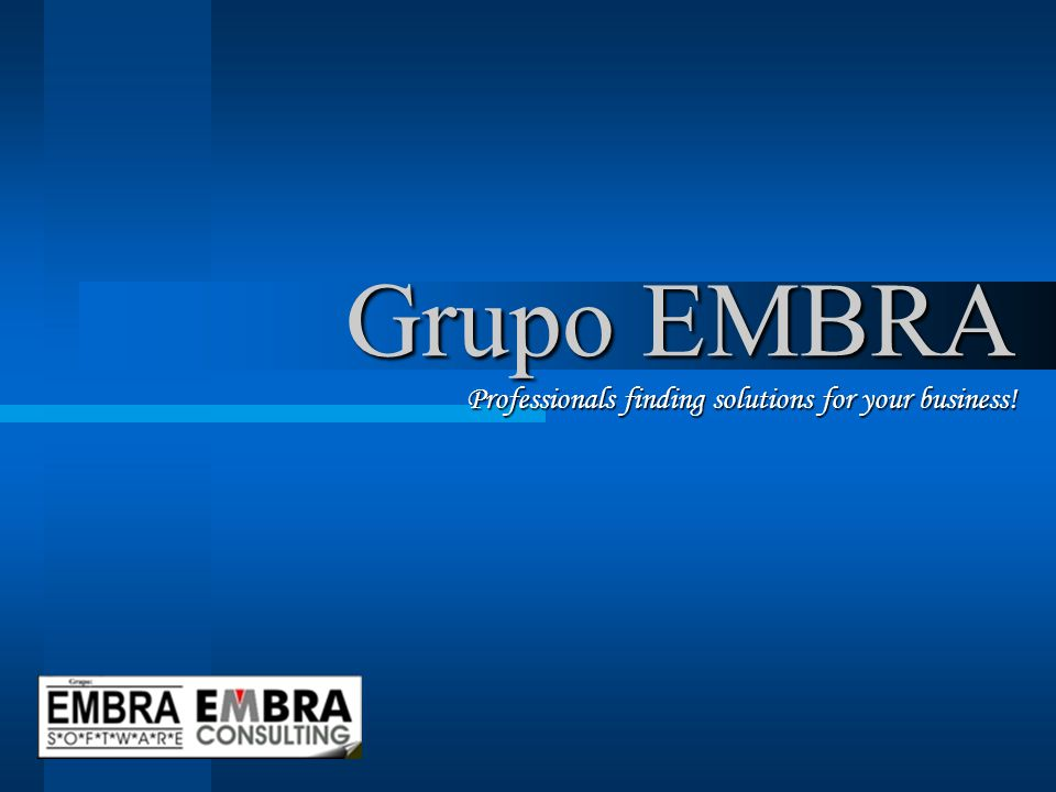 Grupo EMBRA Professionals finding solutions for your business!