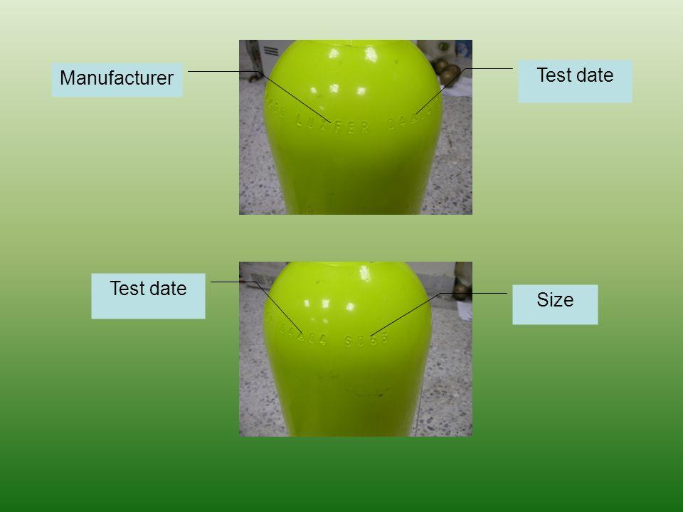 Manufacturer Test date Size