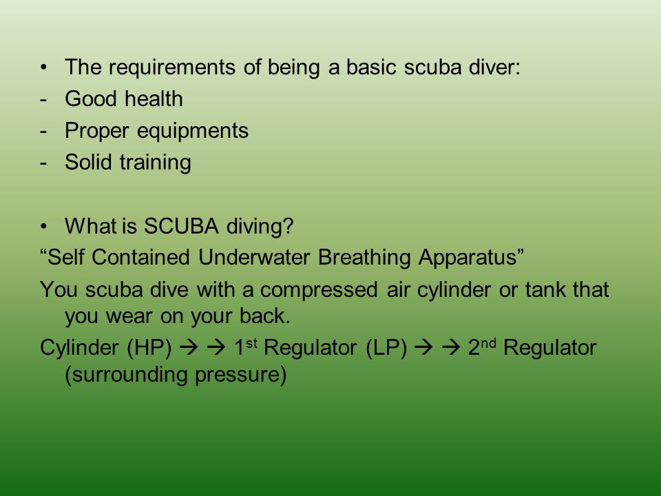 What is scuba certification.-No laws governing recreational scuba diving in most countries.