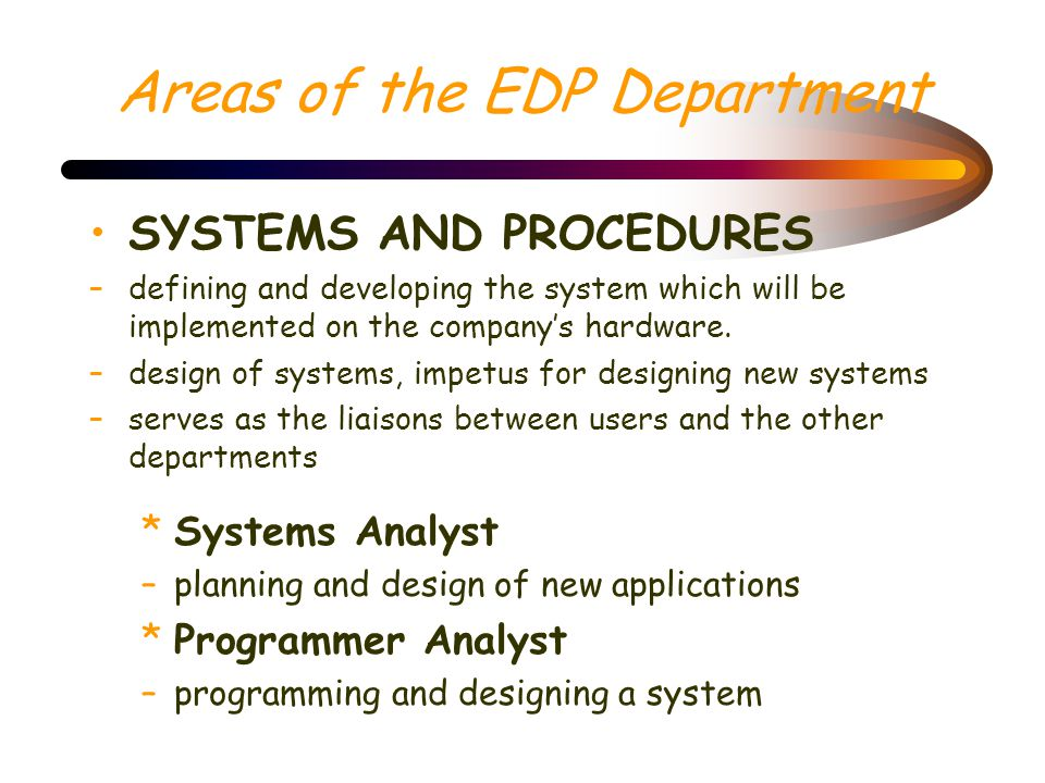 Systems Software –Computer programs that enable application programs to run on a given set of hardware. a.Operating System - the main collection of sy