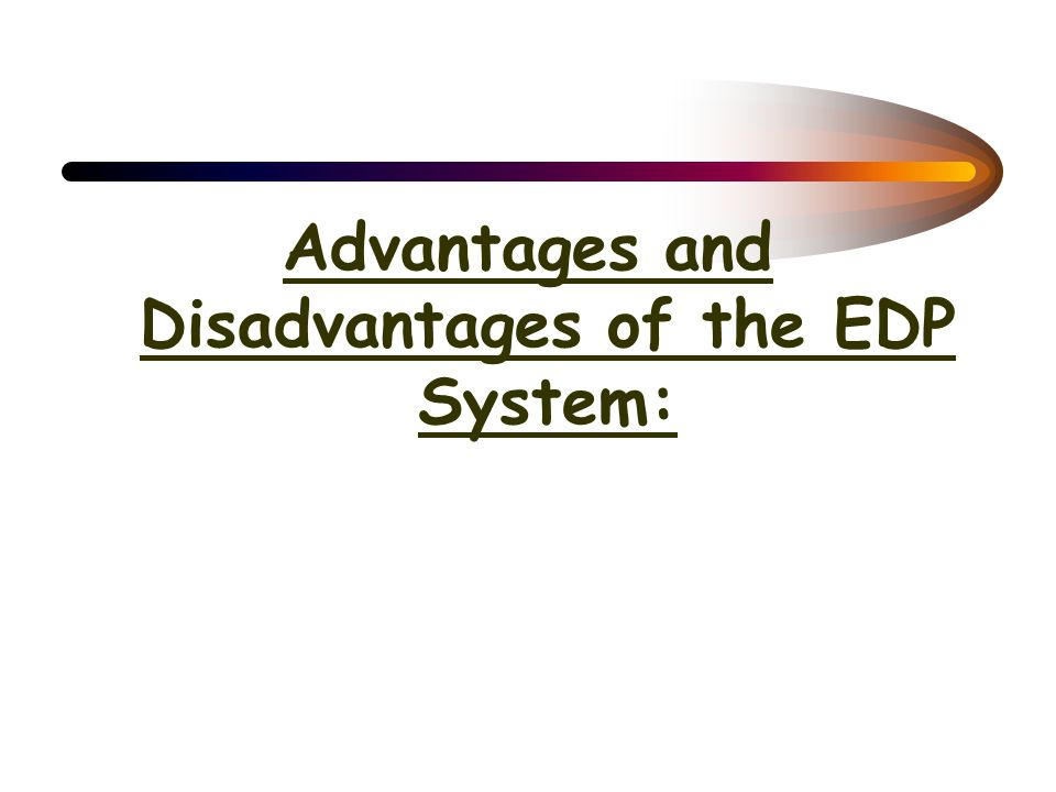Areas of the EDP Department –Auditor Accounting and computer specialists who are responsible for assessing the effectiveness and efficiency of the com