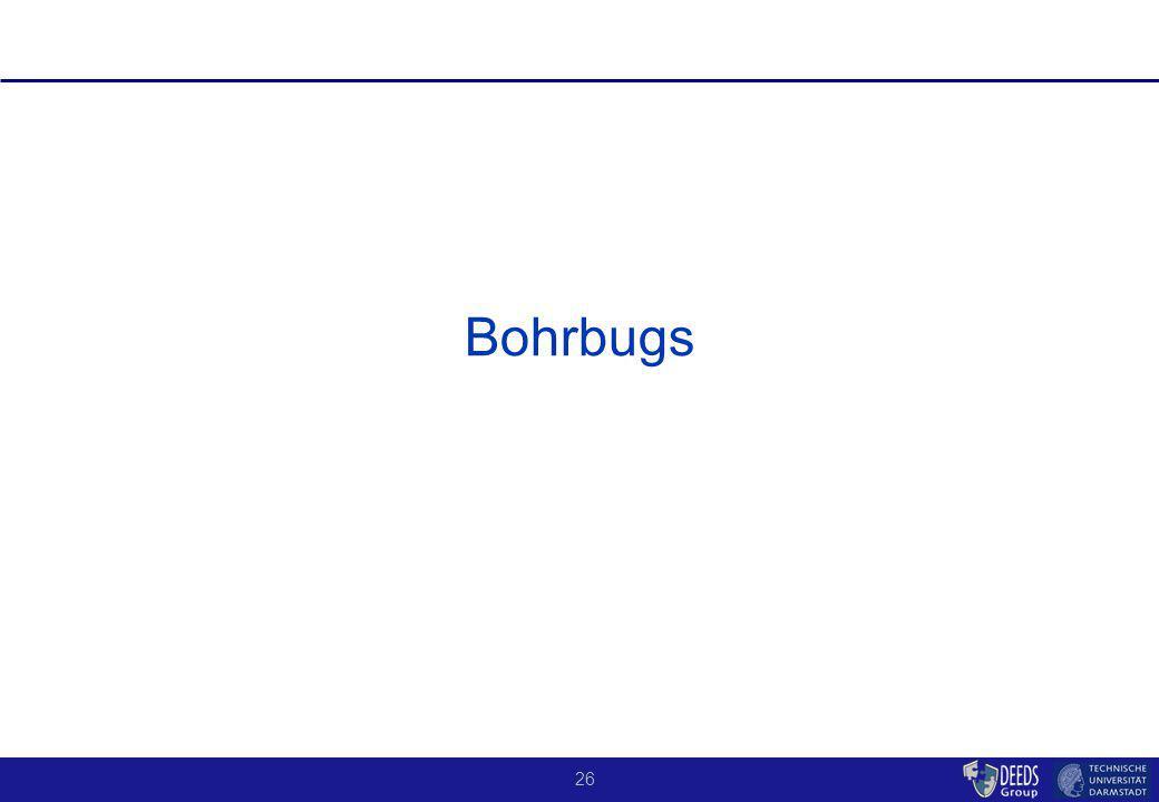 26 Bohrbugs