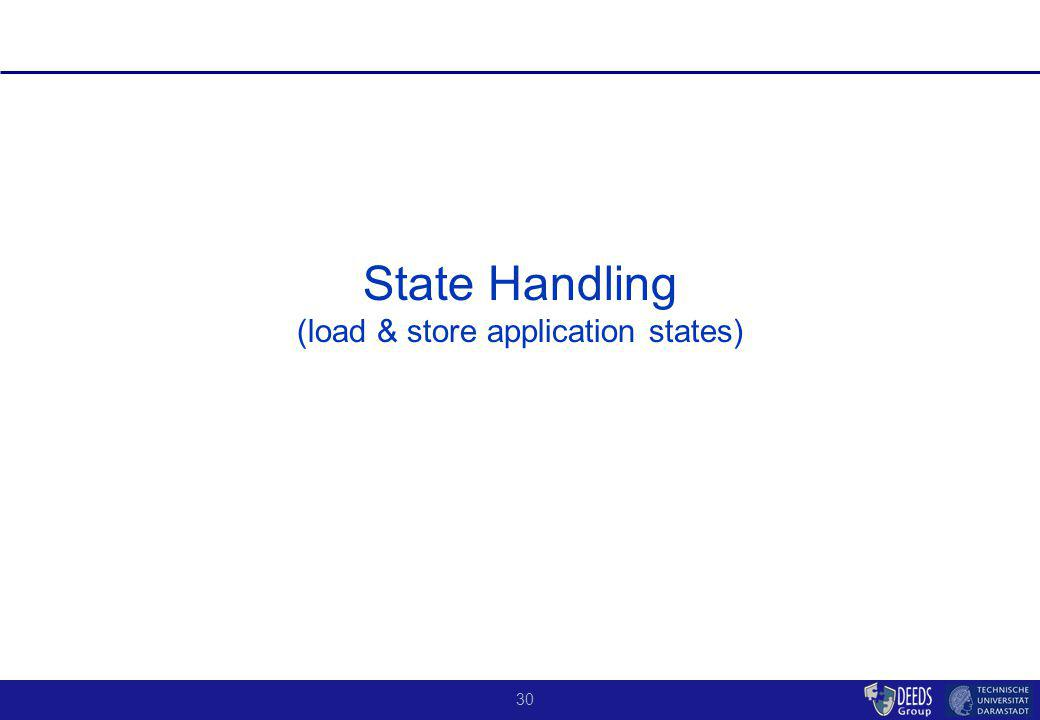 30 State Handling (load & store application states)
