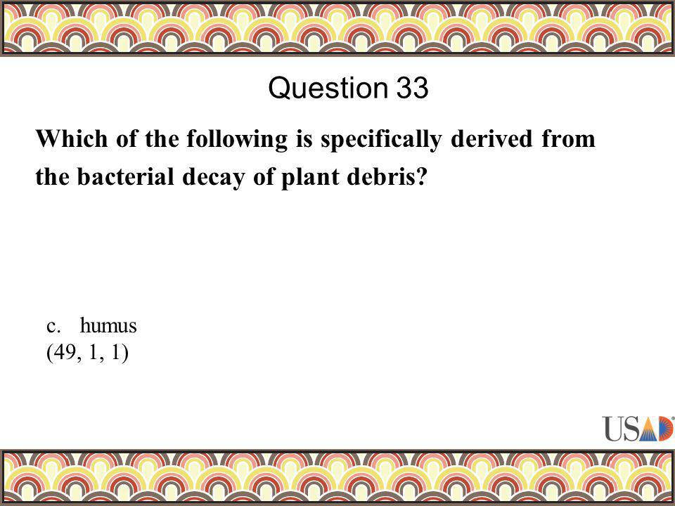 Which of the following is specifically derived from the bacterial decay of plant debris.