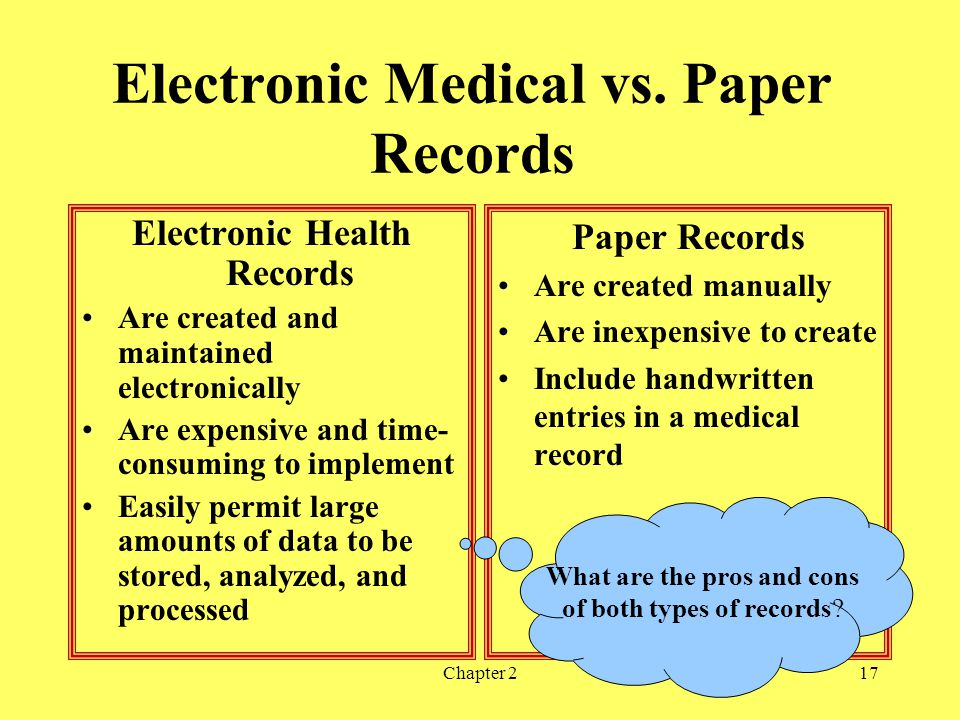 Chapter 217 Electronic Medical vs.