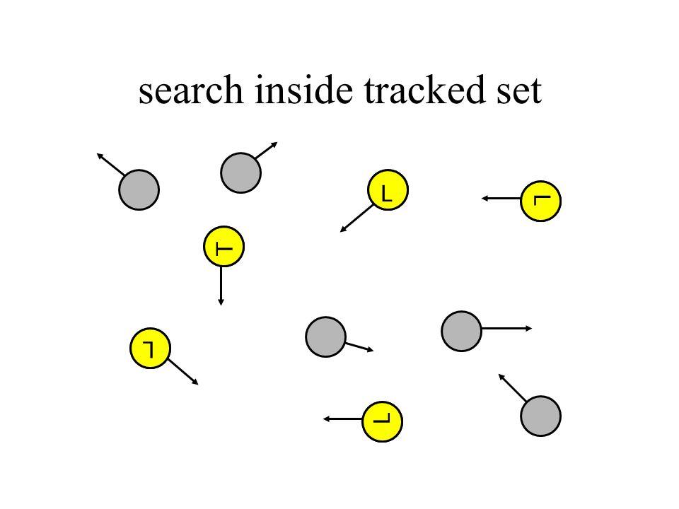 search inside tracked set T L T L L L L