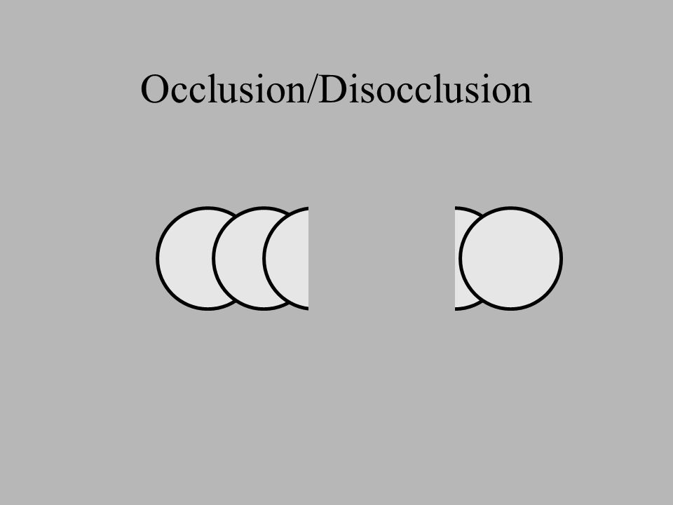 Occlusion/Disocclusion