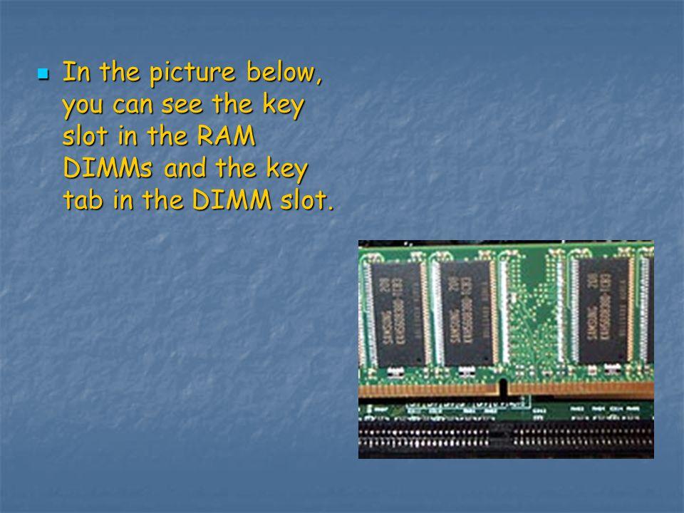 RAM installation.