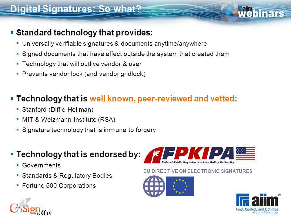 Digital Signatures: So what.