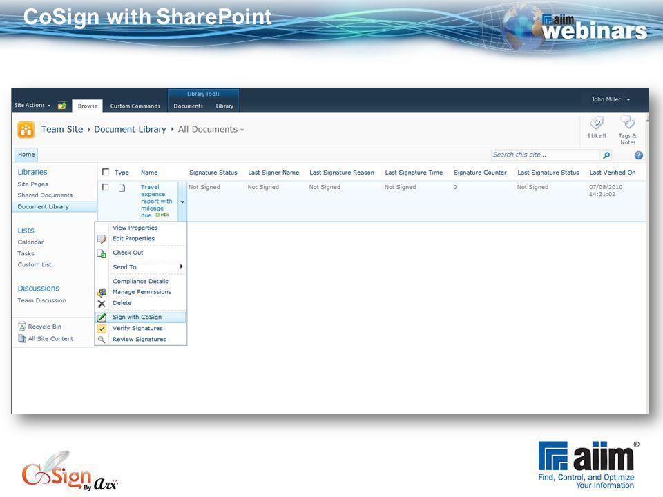 CoSign with SharePoint