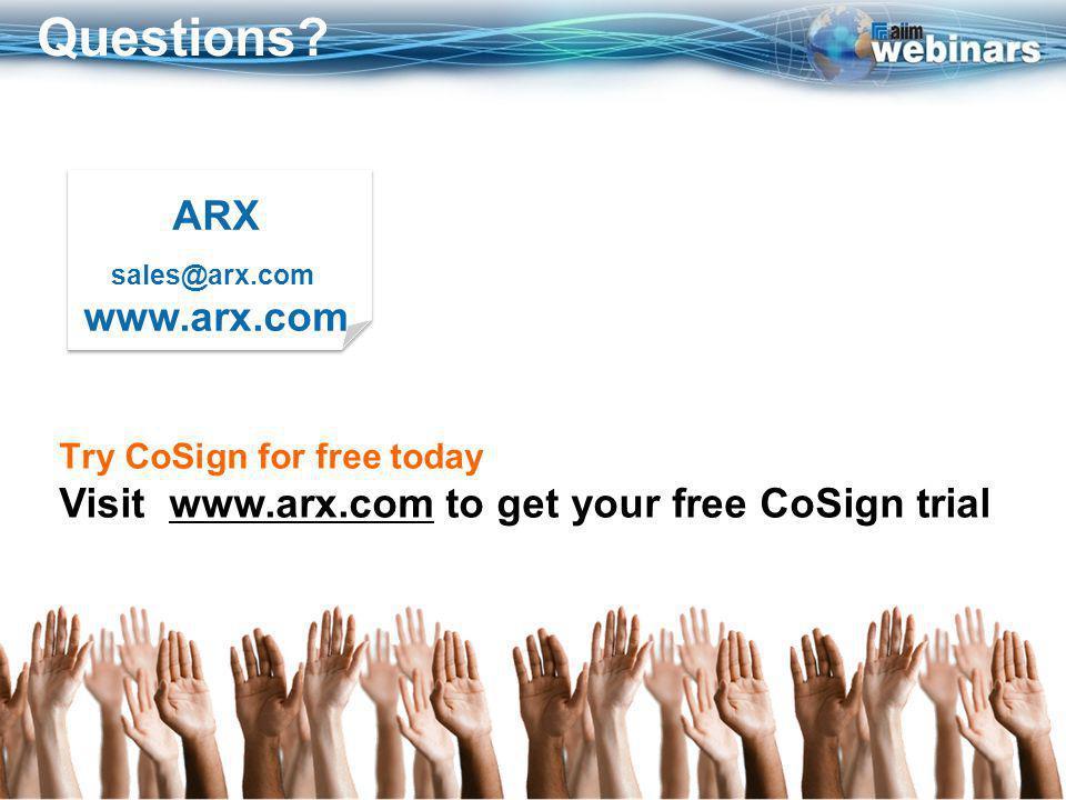 ARX sales@arx.com www.arx.com ARX sales@arx.com www.arx.com Questions.