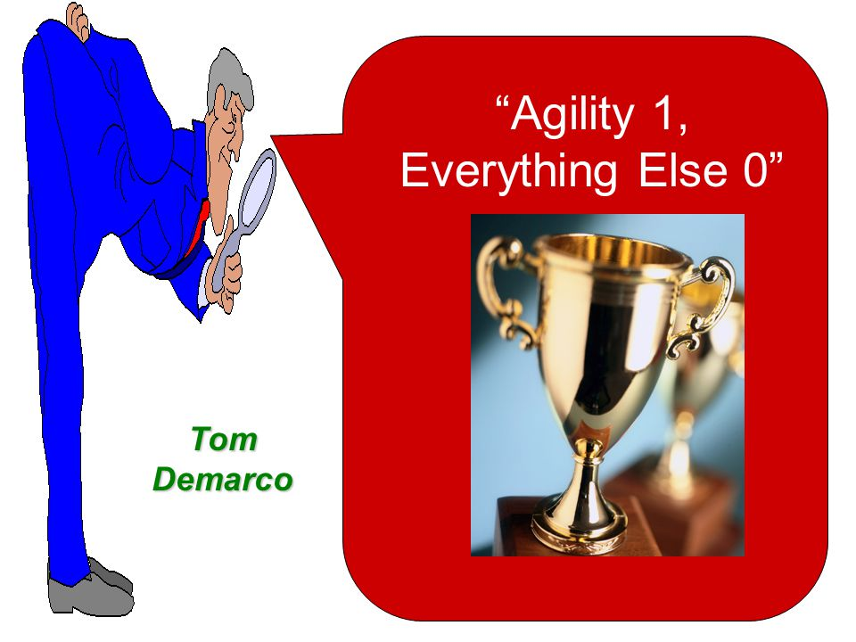 Agility Software Development Research Tells Us That : Effective response to change; rapid and adaptive Effective communication among all stakeholders Drawing the customer onto the team Organizing a team so that it is in control of the work performed Yields … Rapid, incremental delivery of software