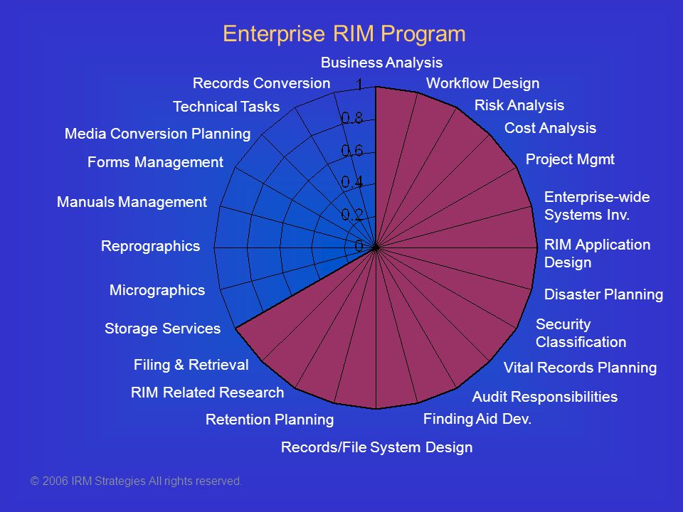 Records Conversion Forms Management RIM Related Research Security Classification Retention Planning Records/File System Design Media Conversion Planni
