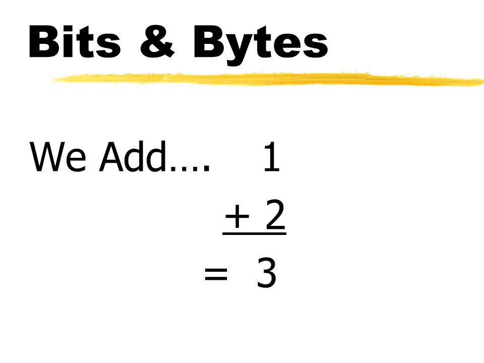 Bits & Bytes We Add… = 3