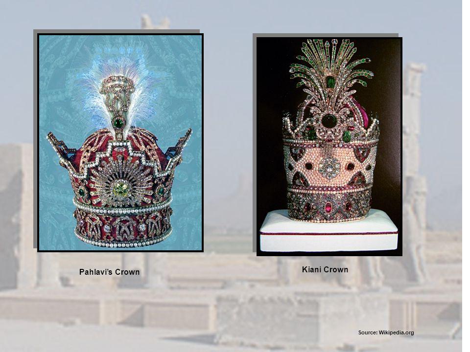 Kiani Crown Pahlavis Crown Source: Wikipedia.org
