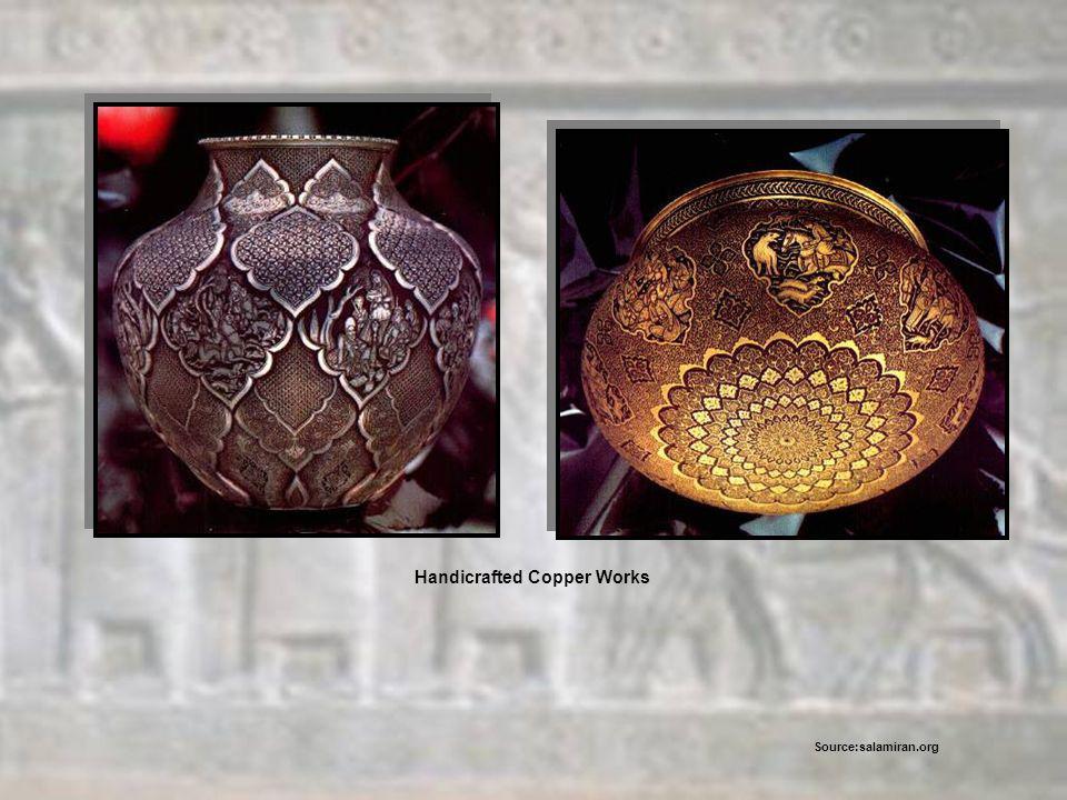 Handicrafted Copper Works Source:salamiran.org