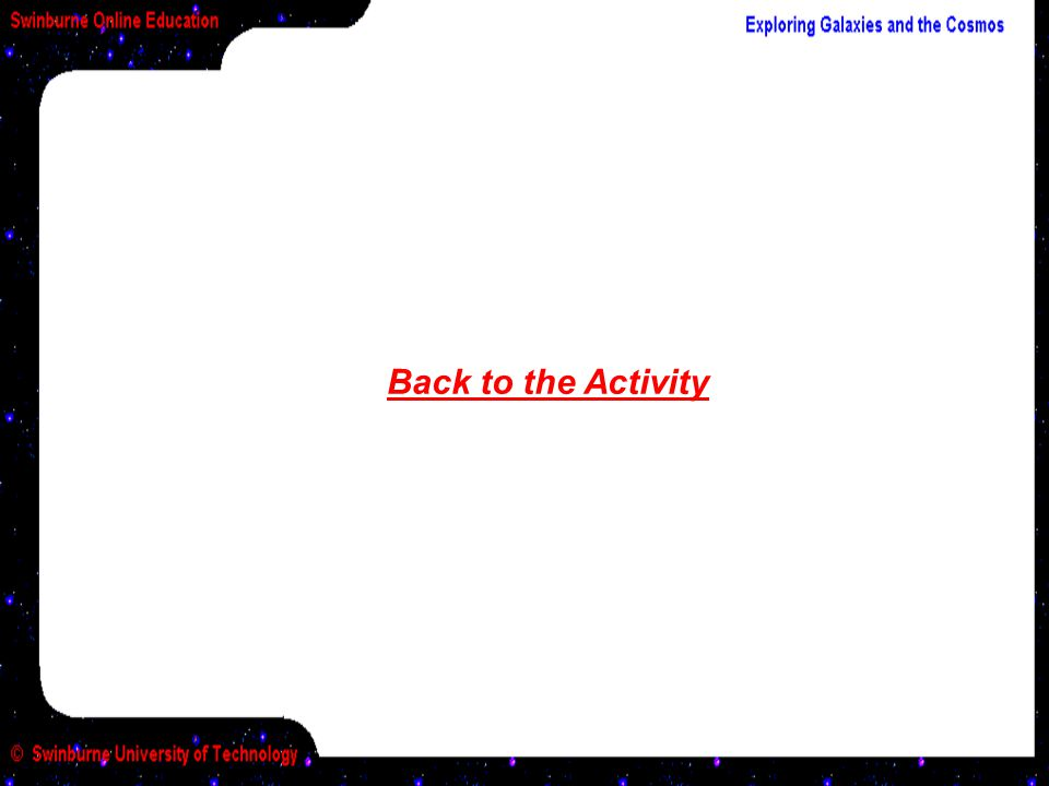 Back to the Activity