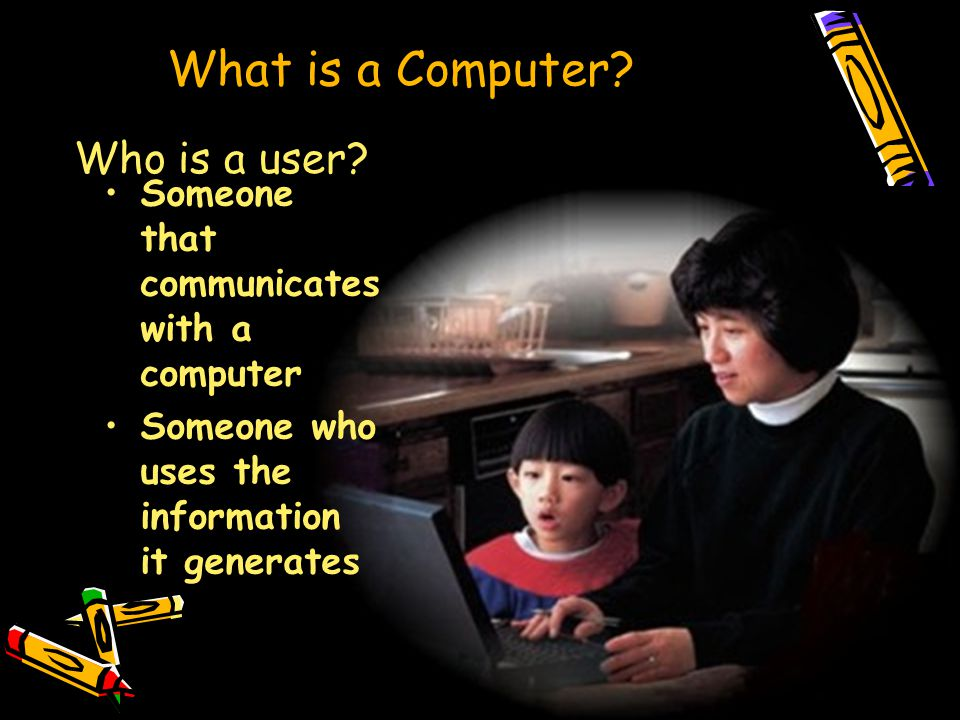 What is a Computer. Who is a user.