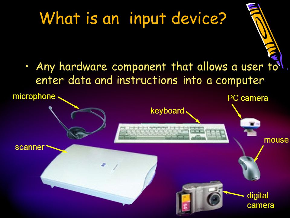 What is an input device.