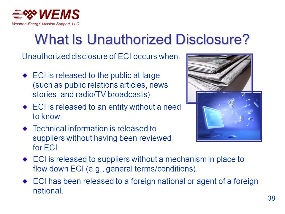 What Is Unauthorized Disclosure.