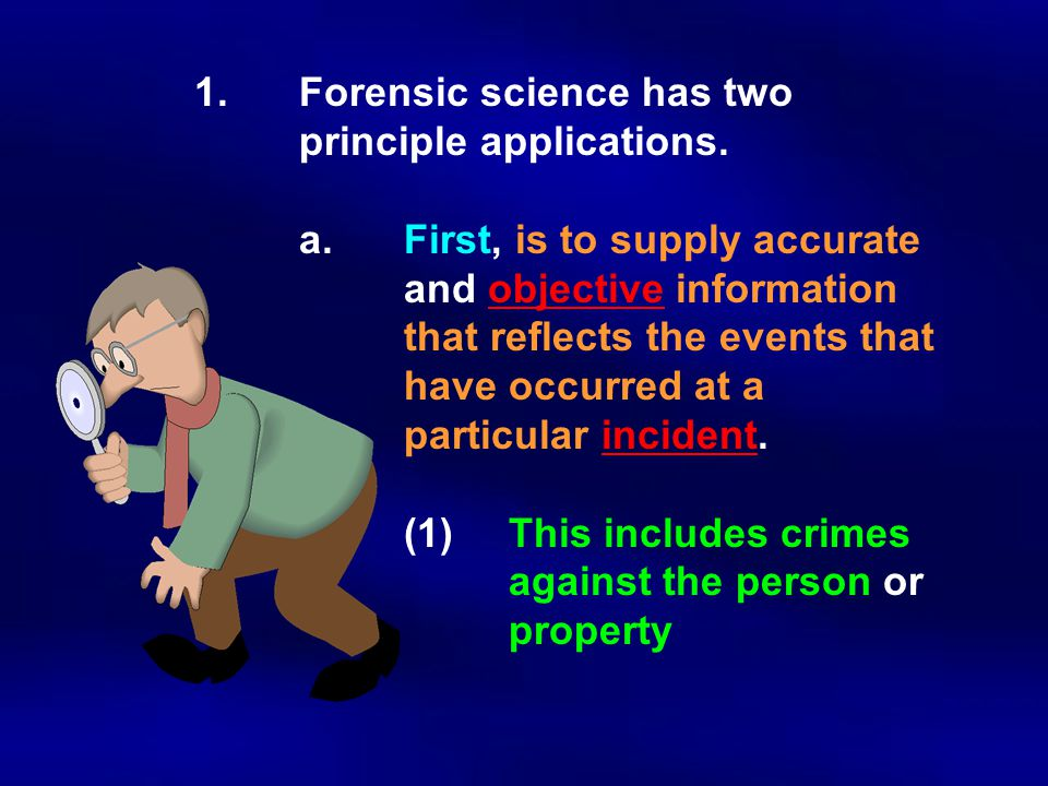 B.Medical examiners are usually physicians who specialize in forensic pathology - the study of structural and functional changes in the body as a resulting from injury.