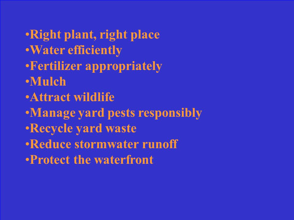 What are the Florida Yards and neighborhoods nine Florida Friendly Principles
