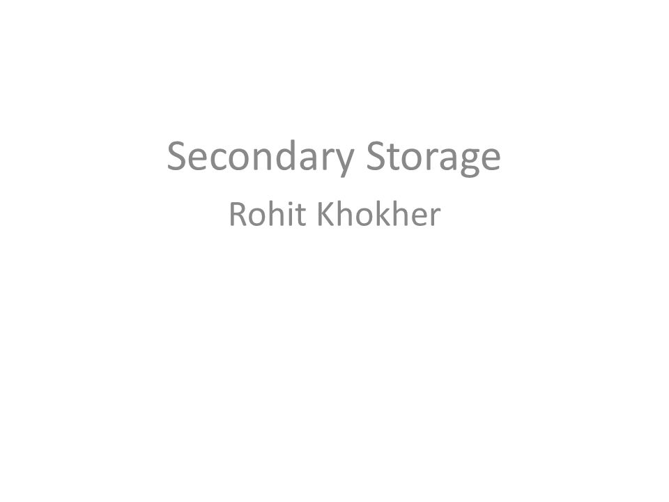 Limitations of Primary Storage Limited Capacity: It cannot be used to store the large volumes of data items.