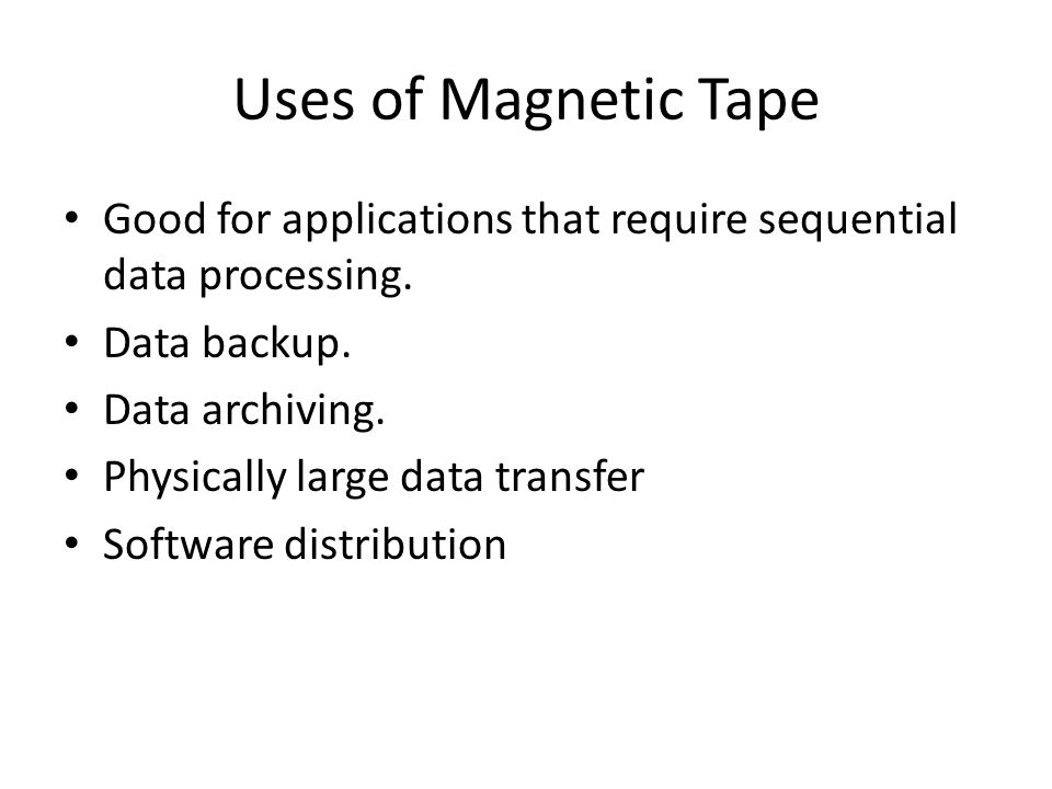 Magnetic Disks A platter coated with iron oxide: A magnetizable material Generally 8 bit EBCDIC code is used to record the data items.