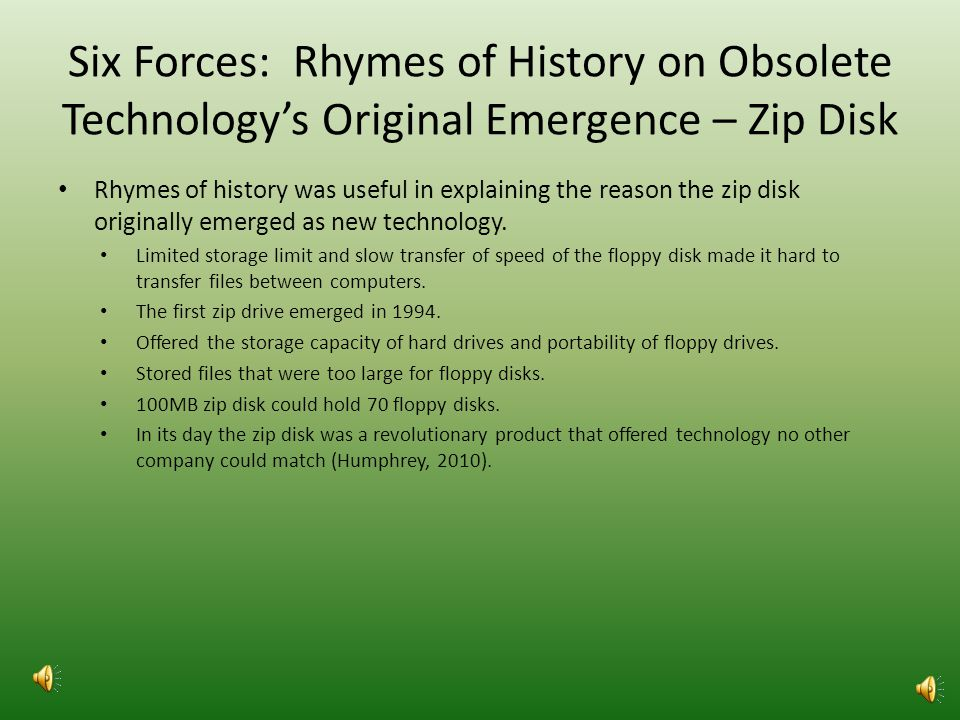 Six Forces: Evolutionary Technologies on Emerging Technology - USB Why evolutionary technologies are useful to explain why the USB drive replaced the Zip Drive.