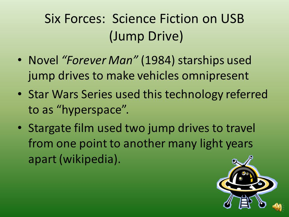 Six Forces: Science Fiction on Obsolete Technologys Original Emergence Science fiction was not useful in explaining the reason the zip disk originally