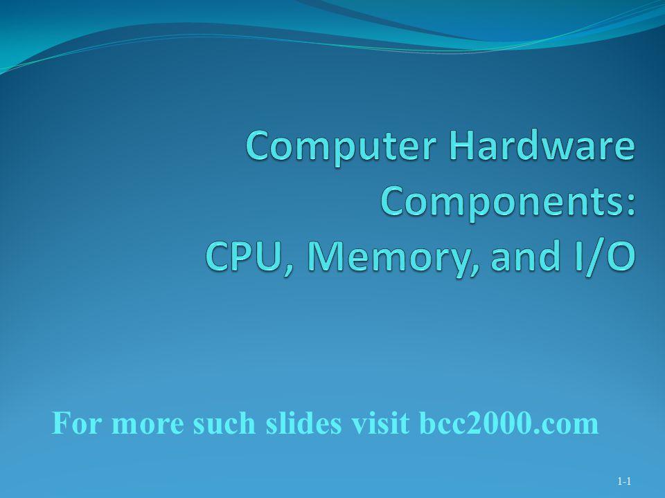 1-1 For more such slides visit bcc2000.com