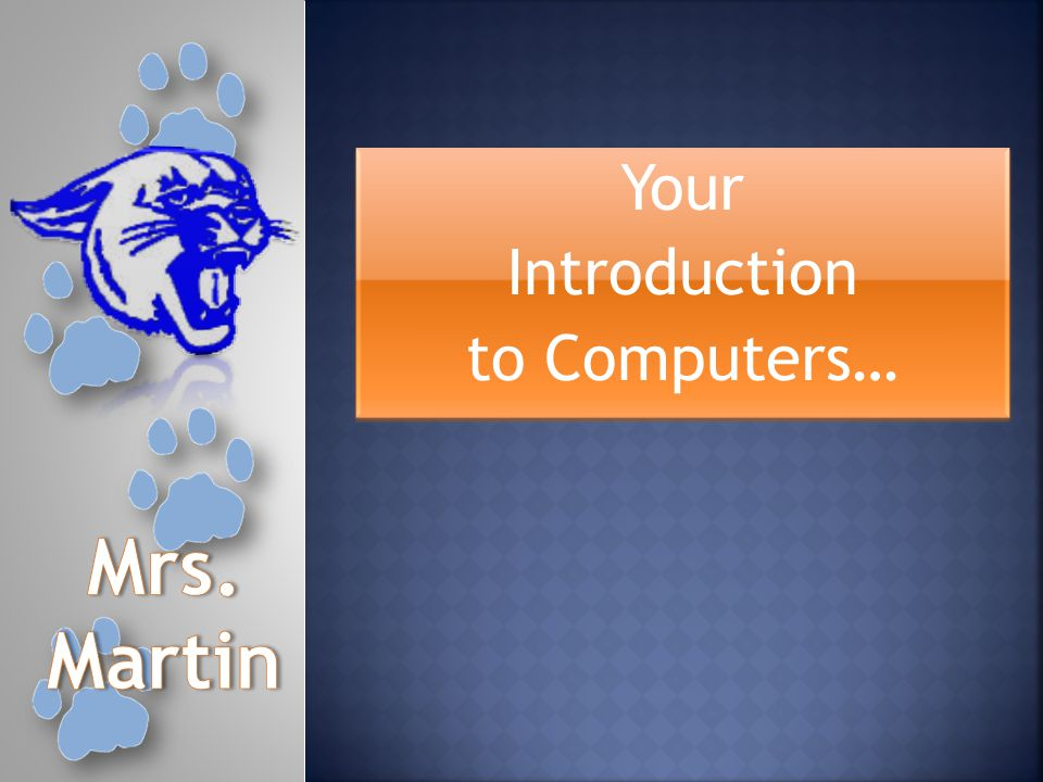 Your Introduction to Computers… Your Introduction to Computers…