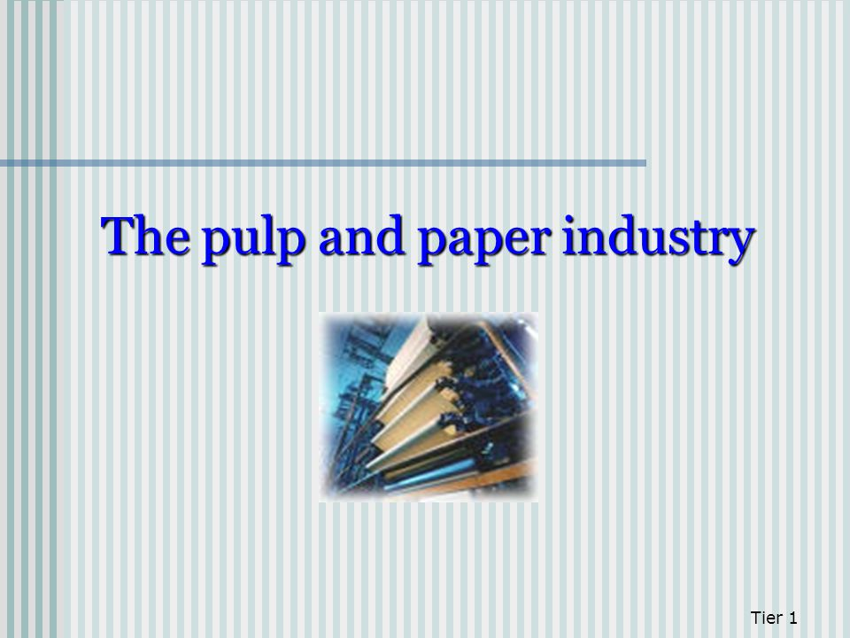 Tier 1 The pulp and paper industry
