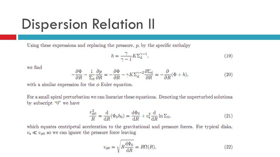 Dispersion Relation II