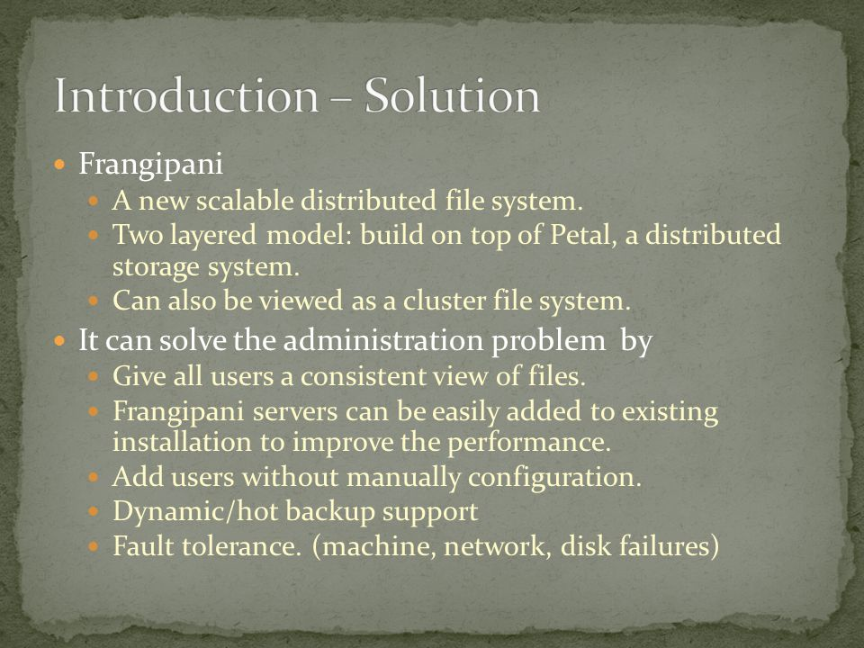 Frangipani A new scalable distributed file system.