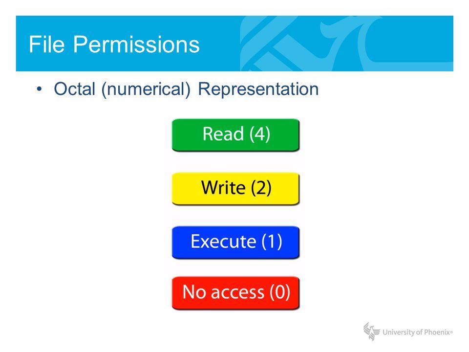 Octal (numerical) Representation