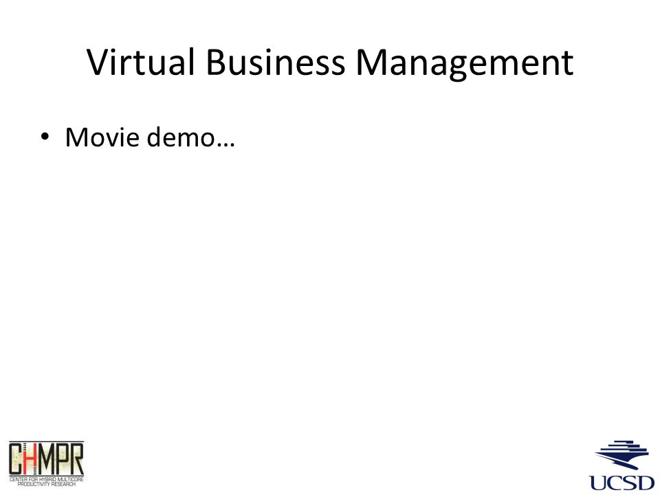 Virtual Business Management Movie demo…