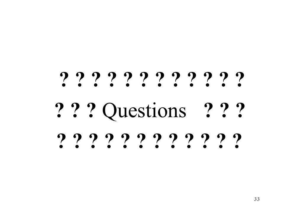 33 Questions