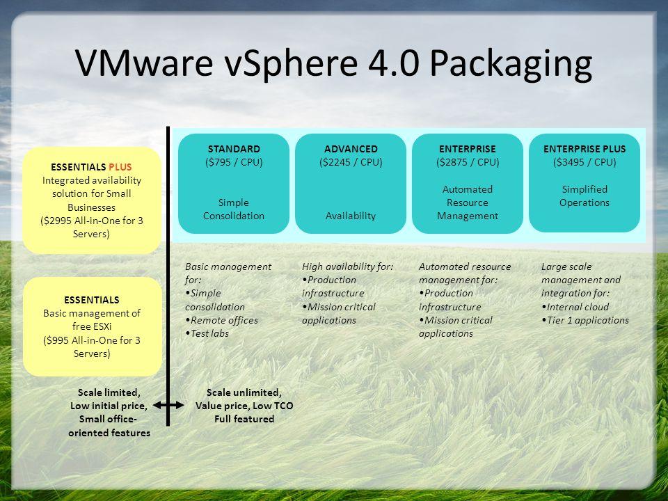 VMware vSphere 4.0 Packaging