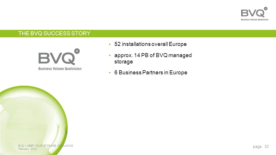 52 installations overall Europe approx.