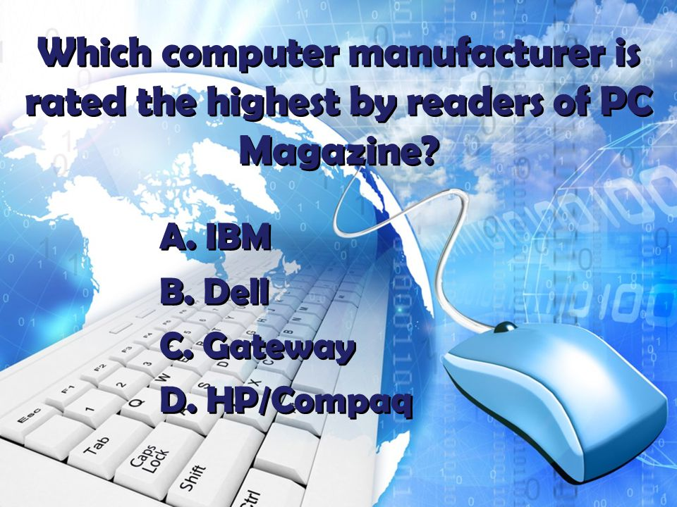Which computer manufacturer is rated the highest by readers of PC Magazine.