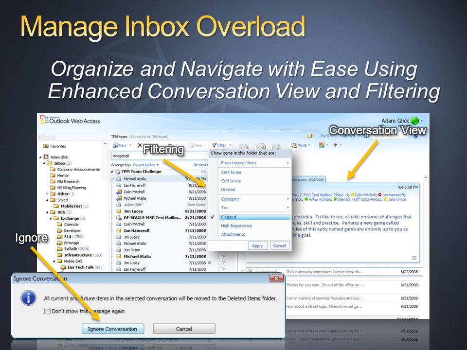 Organize and Navigate with Ease Using Enhanced Conversation View and Filtering
