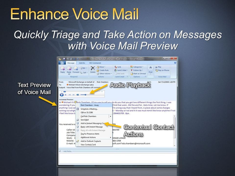 Quickly Triage and Take Action on Messages with Voice Mail Preview