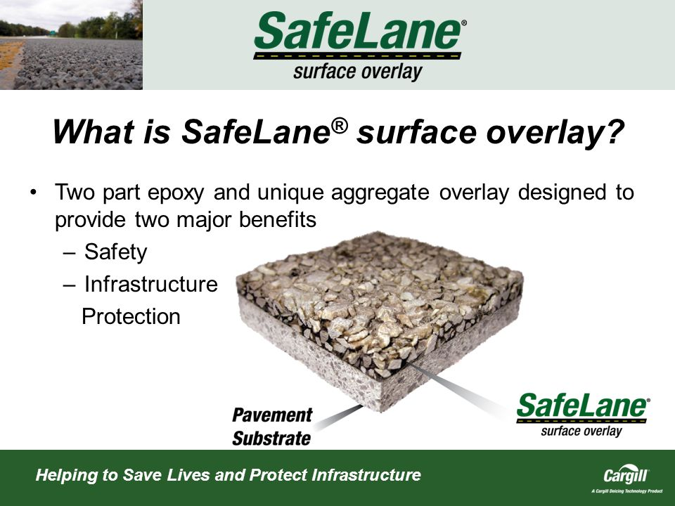 What is SafeLane ® surface overlay.